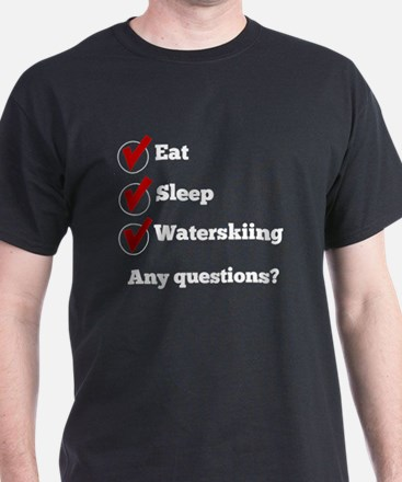 Eat Sleep Waterskiing Checklist T-Shirt