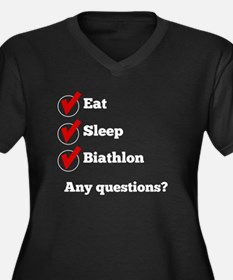 Eat Sleep Biathlon Checklist Plus Size T-Shirt