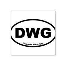 "Cute Water boy Square Sticker 3"" x 3"""