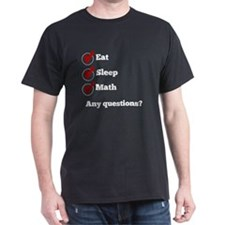 Eat Sleep Math Checklist T-Shirt