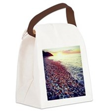 Sunset on the Sound Canvas Lunch Bag
