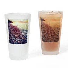 Sunset on the Sound Drinking Glass
