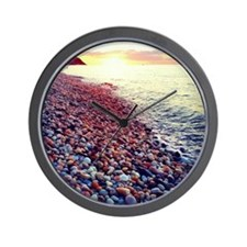 Sunset on the Sound Wall Clock