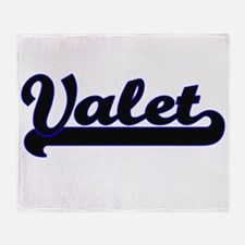 Valet Classic Job Design Throw Blanket