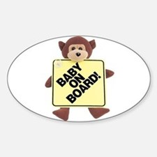 Baby on Board bumper Oval Decal