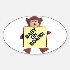 Baby on Board bumper Oval Stickers