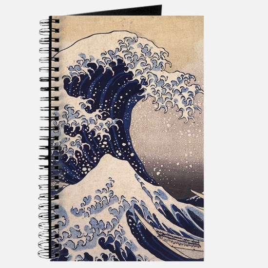 Great Wave by Hokusai, Vintage Japanese Ar Journal