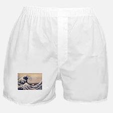 Great Wave by Hokusai, Vintage Japane Boxer Shorts