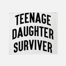 Teenage Daughter Surviver Throw Blanket
