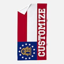 Customized Georgia State Flag Beach Towel