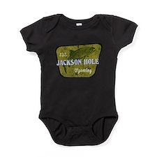 Jackson_Hole_Fishing Baby Bodysuit