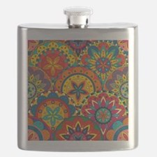 Funky Retro Pattern Flask