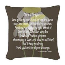 Nurse Prayer Woven Throw Pillow