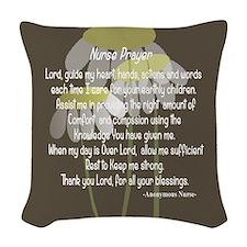 Nurse Prayer Woven Throw Pillow