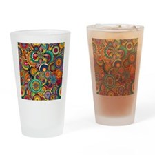 Funky Retro Pattern Drinking Glass
