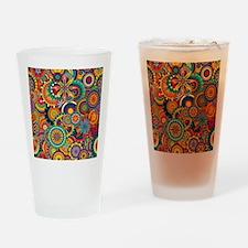 Funky Retro Pattern Drinking Glass