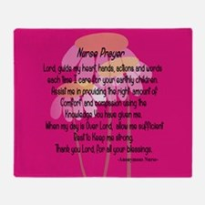 Nurse Prayer Throw Blanket