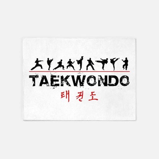 Taekwondo 5'x7'Area Rug