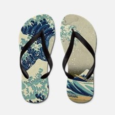 Great Wave by Hokusai Flip Flops