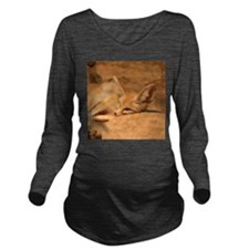 Fennec Fox Long Sleeve Maternity T-Shirt