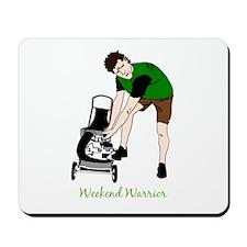 Weekend Warrior Lawn Mower Man Cartoon Mousepad