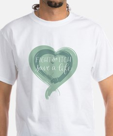 Tagline Heart - Fight the Itch. Save Shirt