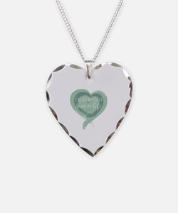 Tagline Heart - Fight the Itc Necklace