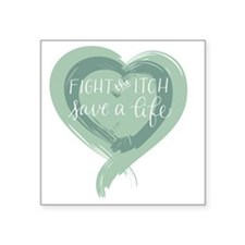 "Tagline Heart - Fight the I Square Sticker 3"" x 3"""