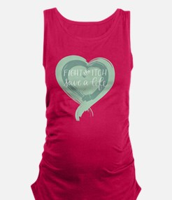Tagline Heart - Fight the Itch. Maternity Tank Top