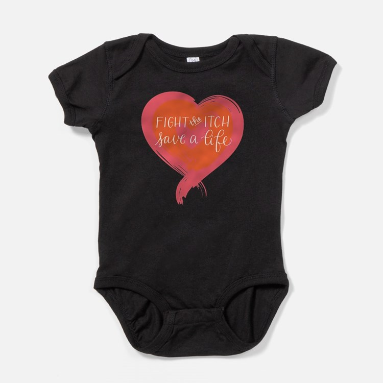 Tagline Heart - Fight the Itch. Save Baby Bodysuit