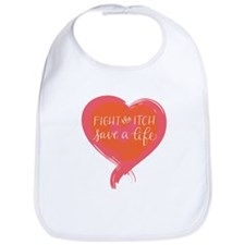 Tagline Heart - Fight the Itch. Save a Life. Bib