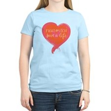 Tagline Heart - Fight the Itch. Save a Lif T-Shirt