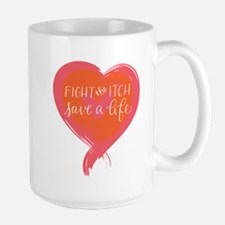 Tagline Heart - Fight the Itch. Save a Life. Mugs