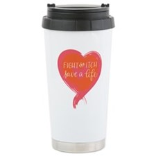 Tagline Heart - Fight t Travel Mug