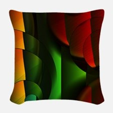 Color Tubes 3 Woven Throw Pillow