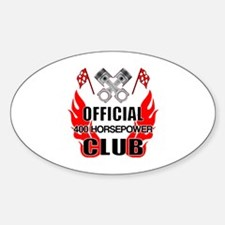 Official 400 HP Club Sticker (Oval)