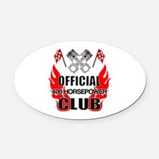 Official 400 HP Club Oval Car Magnet