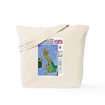 UK Map Tote Bag