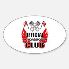 Official 500 HP Club Sticker (Oval)