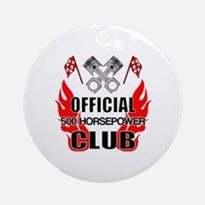 Official 500 HP Club Round Ornament
