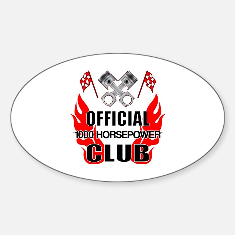 Official 1000 HP Club Decal