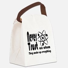 Never Trust Atom Vintage Canvas Lunch Bag
