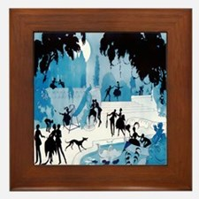 Art Deco Midnight Lovers ValdEs Framed Tile