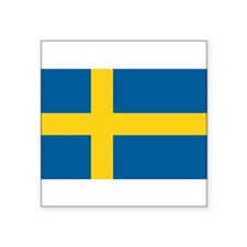 "Cute Swedish Square Sticker 3"" x 3"""