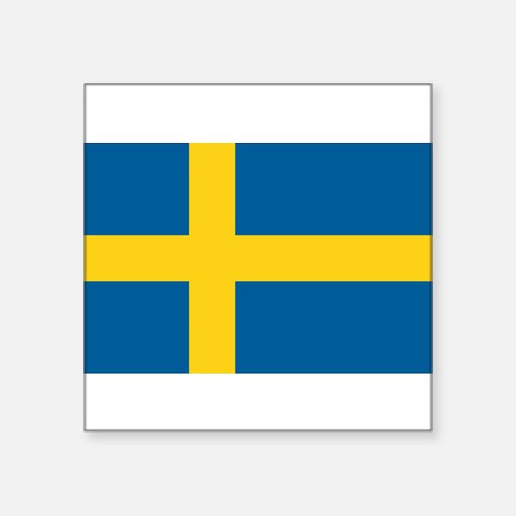 """Cute Scandinavia Square Sticker 3"""" x 3"""""""