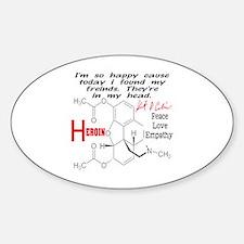 KC HEROIN Sticker (Oval)