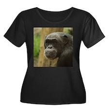 Grinning Chimp Plus Size T-Shirt