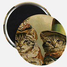 Vintage Cats in Hats Magnet