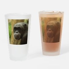 Grinning Chimp Drinking Glass