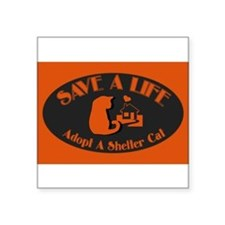 "Cute Adopt save a life Square Sticker 3"" x 3"""